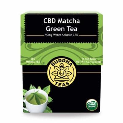 Buddha Teas CBD Matcha and Green Tea