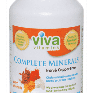 Viva Vitamins Complete Minerals Extra Strength Iron & Copper Free 210 Tablets