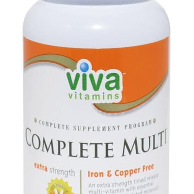 Viva Vitamins Complete Multi Extra strength Iron & Copper Free 90 tablets