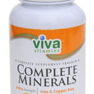 Viva Vitamins Complete Minerals Extra Strength Iron & Copper Free 90 Tablets