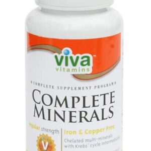 viva vitamins Complete Minerals formulation is chelated with Krebs' Cycle Intermediates. Contains both macro and trace minerals as well as Vitamin D for maximum absorption of calcium. Formulated in regular and extra strengths.