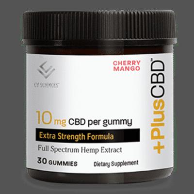 CV Sciences Plus CBD Extra Strength Cherry Mango Gummy