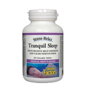 natural factors tranquil sleep formula 60 chewable tablets
