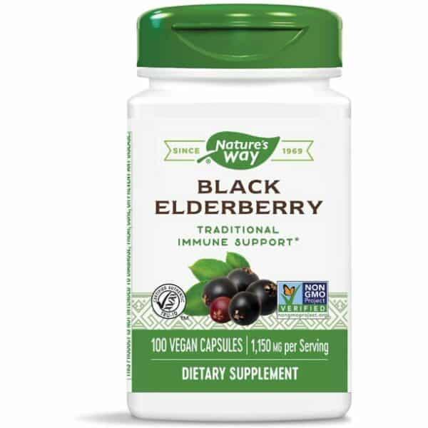 natures way black elderberry 100 capsules