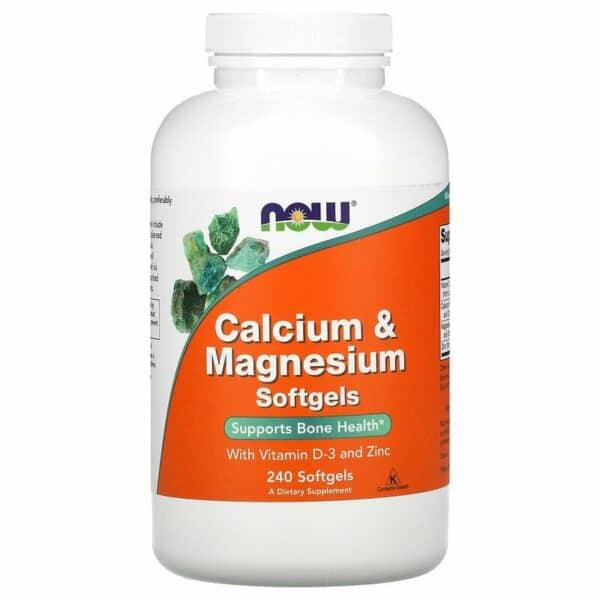 now calcium & magnesium 240 softgels