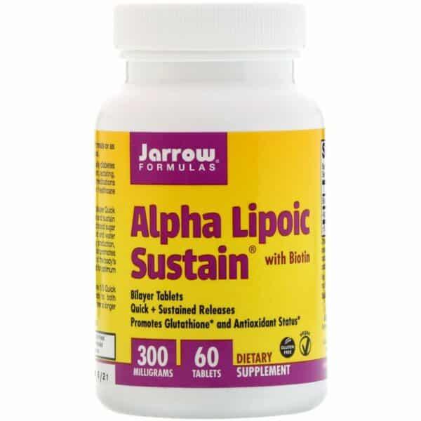 Jarrow Formulas alpha lipoic sustain 60 tablets