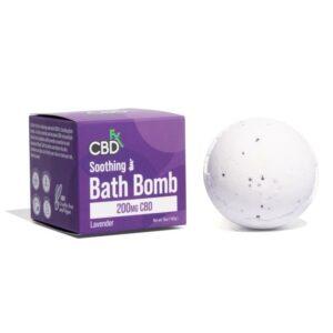 cbdfx bath bomb soothing lavender
