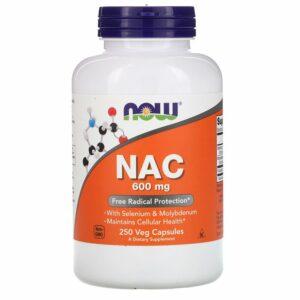 Now Foods NAC 600mg 250 capsules