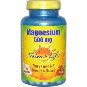 nature's life magnesium 500mg 100 capsules
